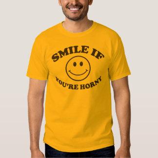 Sonrisa si usted es camiseta córnea playera