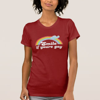 Sonrisa si usted es camiseta gay remera
