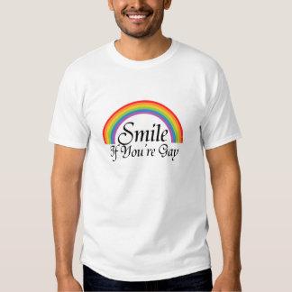 Sonrisa si usted es gay camisas