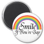 Sonrisa si usted es gay iman de nevera