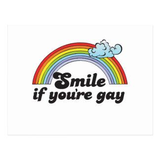SONRISA SI USTED es GAY Postales