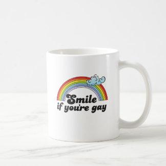 Sonrisa si usted es gay taza clásica