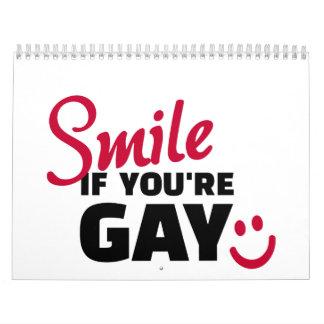 Sonrisa si usted es gay calendarios