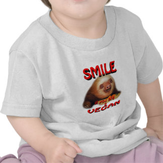 sonrisa si usted es un vegan. camisetas