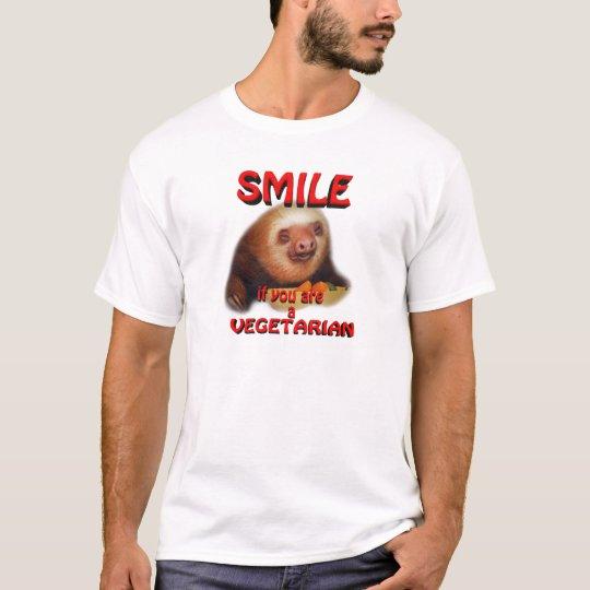 sonrisa si usted es vegetariano playera