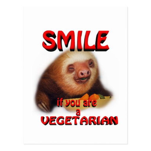 sonrisa si usted es vegetariano postal