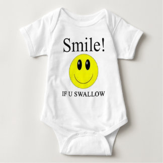 Sonrisa si usted traga -- Ropa Mameluco De Bebé