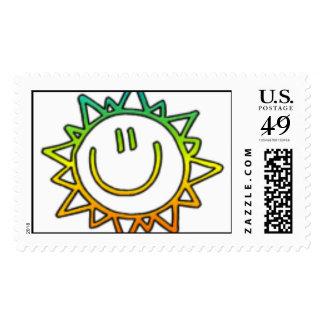 Sonrisa soleada del KRW Timbre Postal