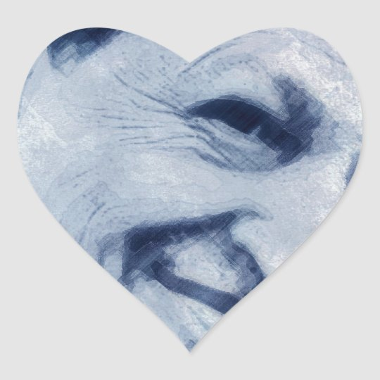 Sonrisa solitaria de la estrella pegatina en forma de corazón