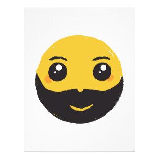 """Sonrisa sonriente de Kawaii con la barba y el Folleto 8.5"""" X 11"""""""