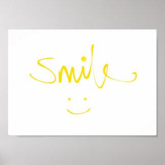 Sonrisa sonriente de la cara (poster) póster
