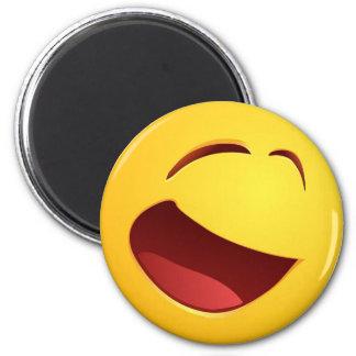 Sonrisa sonriente imán redondo 5 cm