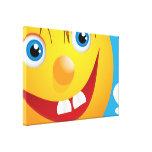 Sonrisa sonriente impresión en lienzo estirada