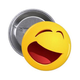 Sonrisa sonriente pin redondo 5 cm