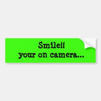 ¡Sonrisa!! su encendido cámara… Pegatina de Bumber Pegatina Para Auto