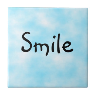 Sonrisa-teja Azulejo Cuadrado Pequeño