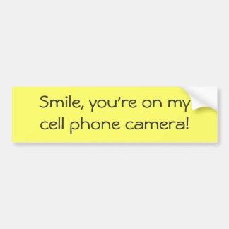 ¡Sonrisa, usted está en cámara del teléfono del my Pegatina Para Auto