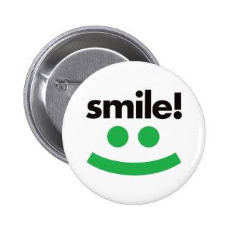 Sonrisa - verde pin redondo 5 cm