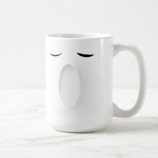 Sonrisa y bostezo taza de café