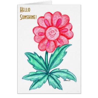 Sonrisa y pensamiento en usted tarjeta de felicitación