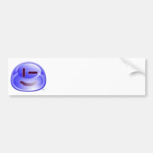 Sonrisas azules etiqueta de parachoque