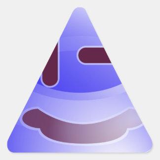 Sonrisas azules pegatina triangular