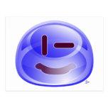 Sonrisas azules tarjeta postal