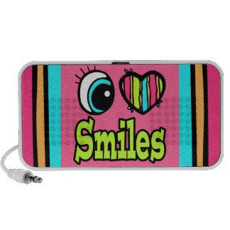 Sonrisas brillantes del amor del corazón I del ojo Notebook Altavoces