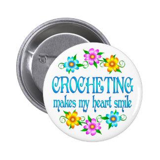 Sonrisas Crocheting Pin Redondo 5 Cm