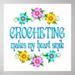 Sonrisas Crocheting Poster