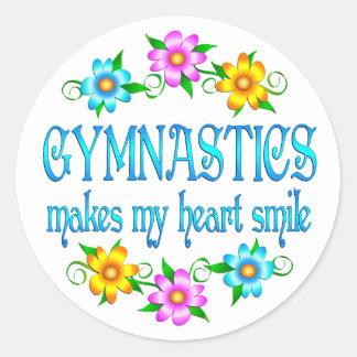 Sonrisas de la gimnasia etiquetas