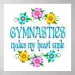 Sonrisas de la gimnasia posters
