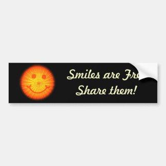 Sonrisas de la pegatina para el parachoques pegatina para auto