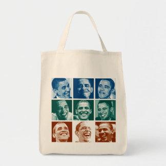 Sonrisas de Obama Bolsa Tela Para La Compra