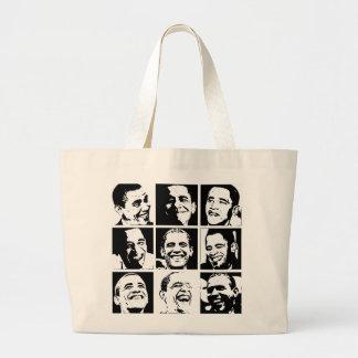 Sonrisas de Obama Bolsa Tela Grande