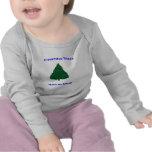 Sonrisas del árbol de navidad camisetas
