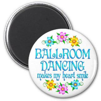 Sonrisas del baile de salón de baile imán redondo 5 cm