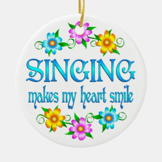 Sonrisas del canto ornamento de navidad
