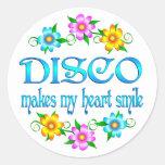 Sonrisas del disco etiquetas redondas