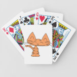 Sonrisas del gatito del tigre barajas de cartas
