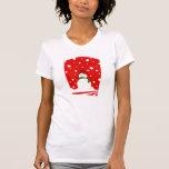 Sonrisas del muñeco de nieve camiseta