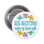 Sonrisas del patinaje de hielo pin