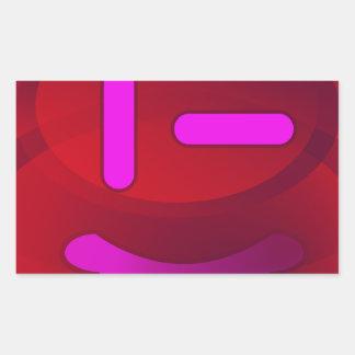 Sonrisas en magenta pegatina rectangular