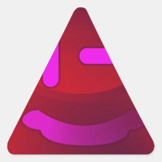 Sonrisas en magenta pegatina triangular
