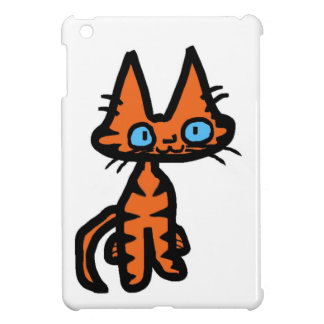 Sonrisas felices de un gatito iPad mini cárcasa