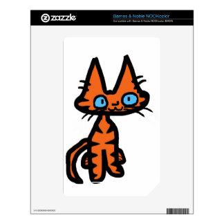 Sonrisas felices de un gatito calcomanía para el NOOK color