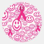 Sonrisas rosadas de la cinta que ayudan pegatina