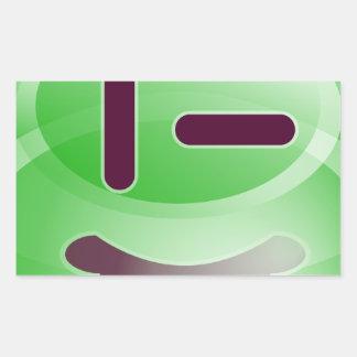 Sonrisas verdes pegatina rectangular