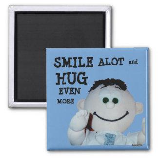 Sonrisas y abrazos imanes para frigoríficos
