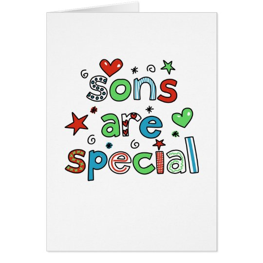 Sons are Special Card